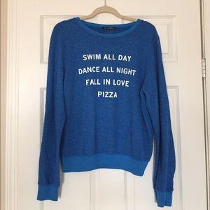 WILDFOX Swim all Day Pizza Party Sweatshirt
